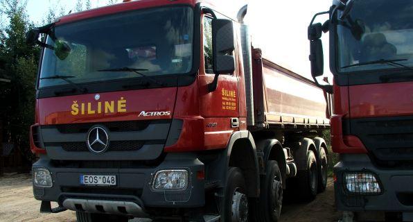 Transporto nuoma krovinių pervežimui, sunkiųjų mechanizmų (buldozeriai, greideriai, autokranai, ekskavatoriai) paslaugos
